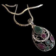 Mogul Colors Pendant Necklace