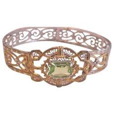 Filigree  Rhinestone Bracelet