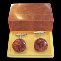 Amber Cufflinks Original Box