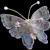 Large  Plique -a-Jour Enamel Butterfly Pin