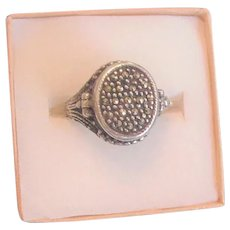 Sterling Marcasite Poison Ring
