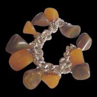 Chunky Bakelite Charms Bracelet