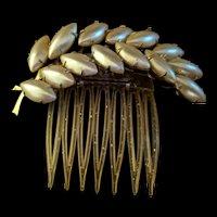 Vintage Leaf Haircomb