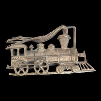 Ivar Hyden Brass Locomotive Engine Belt Buckle