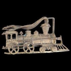Ivar Hyden Brass Locomotive Engine Belt Buckle