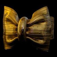 Stamped Brass Bow Bracelet