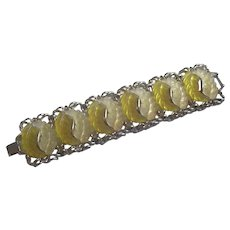Yellow Leafy Bracelet