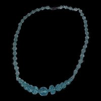 Aqua Marine Crystal Necklace