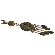 Sterling Silver Malachite Necklace