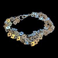 Sterling Silver Strands Bracelet
