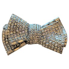 Big Rhinestone Bow Pin