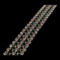 Flashy Green Rhinestone Bracelet