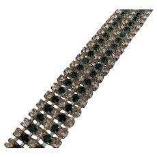 Flashy Green Rhinestone Bracelet