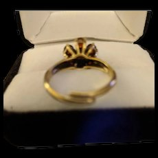 Silver Vermeil Garnet Ring