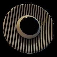 Laminated Black Striped Lucite Hat Pin