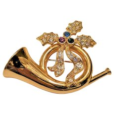 Christmas Pin  French Horn