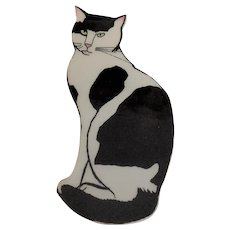 Black and White Cat Pin