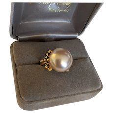 Large  Faux Pearl Ring