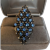Blue Rhinestone Cocktail Ring