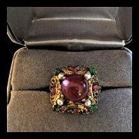 Mogul Style Rhinestone Ring