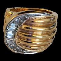 Rhinestone Buckle Ring