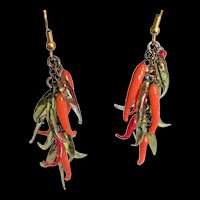 Glass Chili Peppers Earrings
