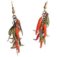 Glass Chili Peppers Earrings