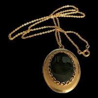 Jade Locket Necklace