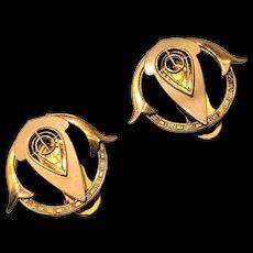 Gold Filled Dress Clips Set