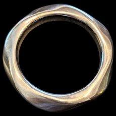 Large Sterling Silver Bangle Bracelet