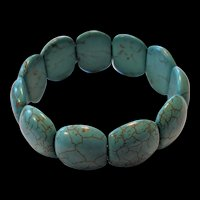 Artisan Crafted Chinese Turquoise Bracelet