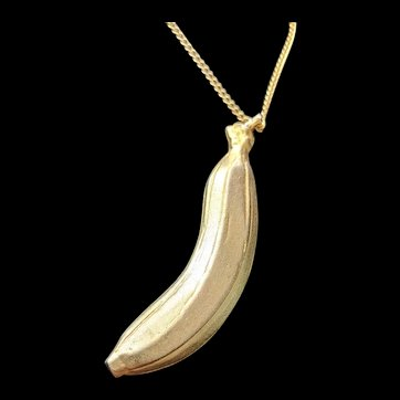 Banana Pendant Necklace by Robert
