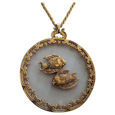 Huge Medallion Pieces Pendant Necklace