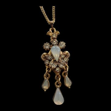 Victorian Revival Rhinestone Necklace  by  Florenza