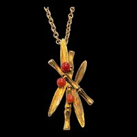 Bamboo Motif Pendant Necklace
