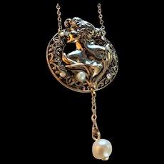 Vintage  Art Nouveau  Style Necklace