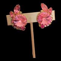 Pink Rhinestone Juliana Earrings