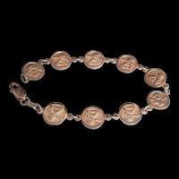 Sterling Silver Cherubs Bracelet