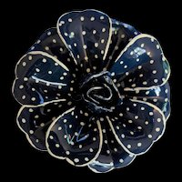 Blue and White Polka Dots Enamel Pin