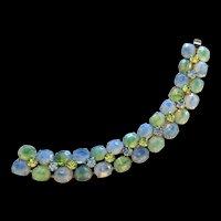 Kramer Blue and Green Rhinestone Bracelet