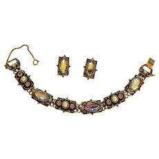 Victorian Revival Bracelet and Earrings