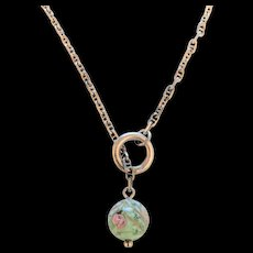 Sterling Silver Venetien Glass Necklace