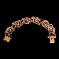 Silver Mexico Roses Bracelet