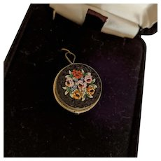 Micro Mosaic Pin Pendant