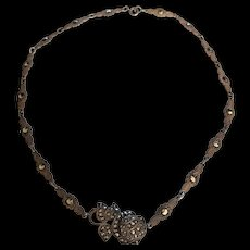 Art Deco Era Sterling Marcasite Necklace
