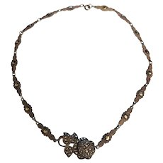 Art Deco Era Sterling Marcasite Necklace