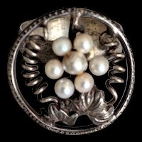 Sterling Silver Cultured Pearls Ring
