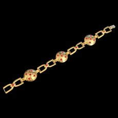 Lightweight Red Rhinestone Bracelet