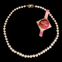 Majorica Simulated Pearls with Original Tag
