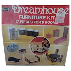Vintage Craft House Doll House Furniture Set NIB